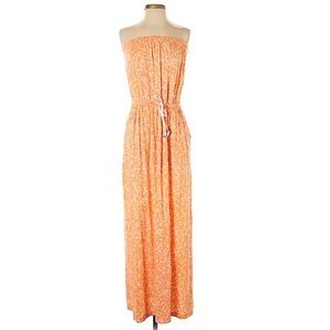 GAP🔥Maxi Dress Strapless Heat Orange XS